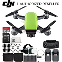 DJI Spark Portable Mini Drone Quadcopter Fly More Combo Virtual Reality Experience VR Bundle (Meadow Green)