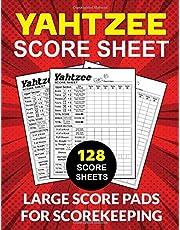 Yahtzee Score Sheets: 128 Large Score Pads For Scorekeeping: Yahtzee Score Cards