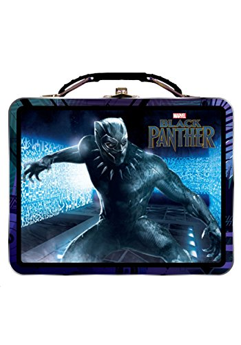 Marvel Black Panther Large Carry All Tin Lunch box- Lunch Tin from The Tin Box Company - Protect Wakanda