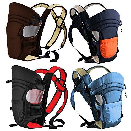 Monsieur Bébé ® Porte bébé ventral 2 positions + poche de rangement - 4 coloris - Norme EN 13209 EGK