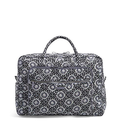 - Vera Bradley Iconic Grand Weekender Travel Bag, Signature Cotton, Charcoal Medallion, One Size