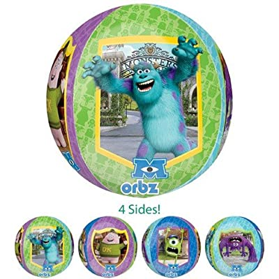 "LoonBalloon MONSTERS University Inc. SULLEY Sully Figure 33"" Birthday PARTY Mylar BALLOON: Toys & Games"