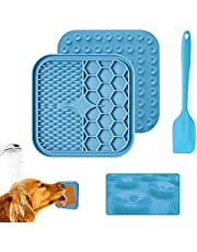 Dog Cat Lick Pad, Proxima Direct Dog Lick Mat with Super Suction, Pet Slow Treat Dispensing Mat, Alternative Slow Feeder Peanut Butter Lick Mat for Pet Bathing Grooming Training - with Extra Spatula