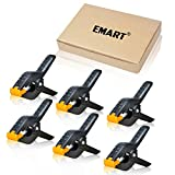 Photo : Emart 6-Pack Set Adjustable Heavy Duty Spring Clamps 4.5 Inch for Photo Studio Backdrops