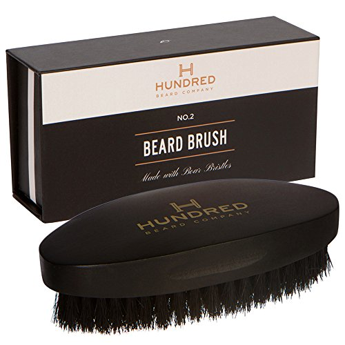 Boar Bristle Beard Brush - Perfect For Balms and Oils - Natural, Soft Boars Hair - For Help Softening And Conditioning Itchy Beards - Presented in Premium Gift - Hair Face Round Styles Facial