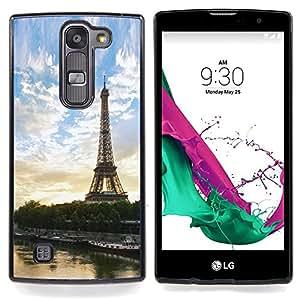 """Qstar Arte & diseño plástico duro Fundas Cover Cubre Hard Case Cover para LG G4c Curve H522Y ( G4 MINI , NOT FOR LG G4 ) (Paris Tour Eiffel"""")"""
