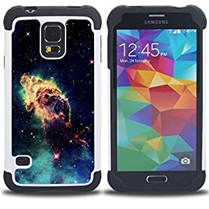 - Space Planet Galaxy Stars 46 - - Doble capa caja de la armadura Defender FOR Samsung Galaxy S5 I9600 G9009 G9008V RetroCandy
