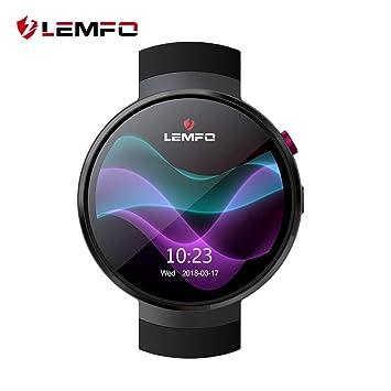 LEMFO LEM7 - Android 7.0 4G LTE Smartwatch, Reloj teléfono cámara de 2MP, MT6737 16GB ROM, traductor Incorporado, Banco de energía, ...