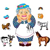 Old Lady Who Swallowed A Fly Felt Figure set for Flannel Board Stories