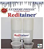 Reditainer Extreme Freeze Deli Food Containers with Lids, 8-Ounce, 40-Pack