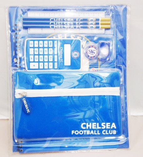 Ready Steady Bed Chelsea FC 8 Piece Student/ School Stationary Set With Carry Case