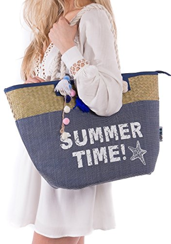 Beach Bag Tote Closure Pockets product image