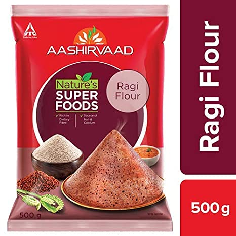 Aashirvaad Nature's Super Foods Ragi Flour Pouch, 500 g