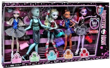 [Monster High Monster High Dance Class 5 Pack - Rochelle Goyle Gil Webber Robecca Steam Lagoona Blue and Operetta Doll doll toy (parallel] (Monster High Lagoona And Gil)