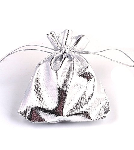 EDENKISS Heavy Duty Drawstring Organza Wedding Gift Jewellery Candy Pouch Bags (10PCSILVERBAGS - Tiffany Jewelry Bag