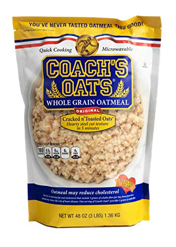 Coach's Oats 100% Whole Grain Oatmeal, 3 Pound