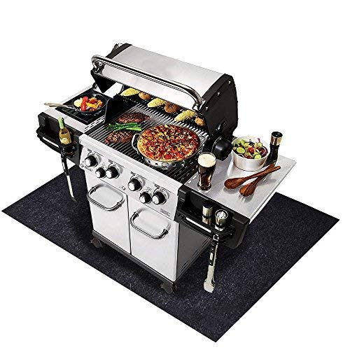 Under the Grill Mat,BBQ Grilling Gear for Gas/Electric Grill–Absorbent Grill Pad Lightweight Washable Floor Mat to Protect Decks and Patios from Grease Splatter and Other Messes (Grill Mat 36'' x 72'') by CONVELIEF (Image #4)