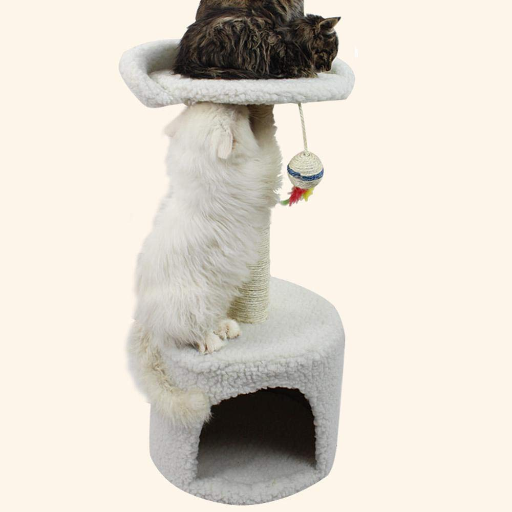 Axiba Play Towers Trees for Cats Small square nest sisal Prop Cat toy 33cm33cm70cm Particleboard + Velvet fabric + sisal