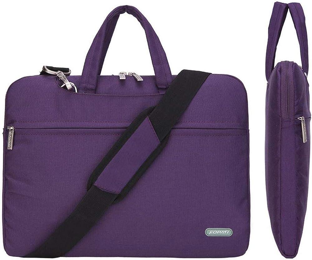CROMI Laptop Case, Slim Briefcase Commuter Bag Business Sleeve Carrying Handle Bag Nylon Notebook Shoulder Messenger Bag