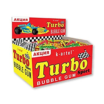 100psc full box Turbo Sport TUNING bubble chewing gum retro sweets Treats candy birthday Cupcake cake
