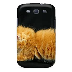 New Cute Funny Playing With A Feather Case Cover/ Galaxy S3 Case Cover