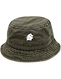 Bd2020 Cute Cat Washed Cotton Bucket Hats