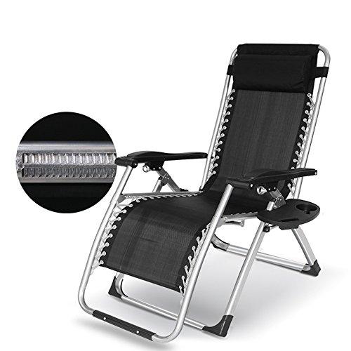 Siesta Lounge Folding (SYF Chair Adjustable Folding Lounge Chair Beach Chair Folding Chair Siesta Chair Office Elderly Children Chair 178x65x80cm A+)