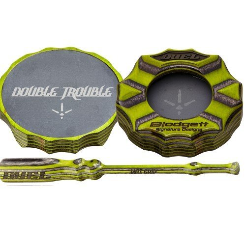 Duel Double Trouble Friction Pot Turkey - Turkey Friction Slate Call