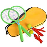 Aoneky Kids Badminton Set, Toddler Outdoor Toys by Age 2, 3, 4, 5 Years Old, Best New Games for Girls, Boys, Children