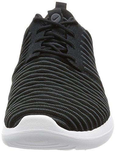 NIKE Mens Roshe Two Flyknit Running Shoes Black/Dark Grey/White/Volt GaeO0QS