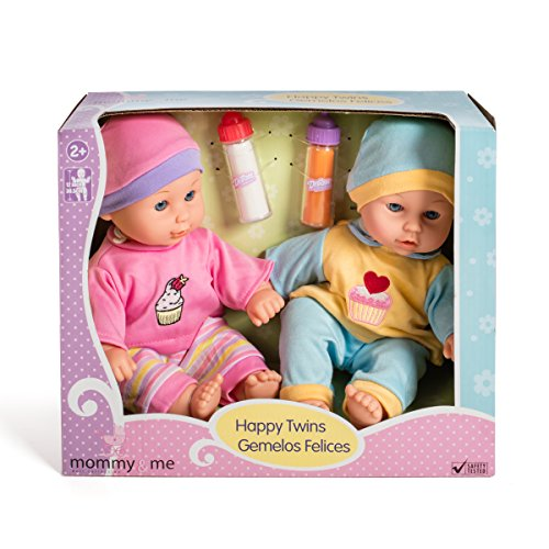 12'' Baby Twins Dolls with Bottles