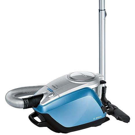 Bosch Relaxxx ProSilence - Aspirador sin bolsa silencioso, tecnología SensorBagless, 700 W, autolimpieza de filtro SelfClean, color azul plata