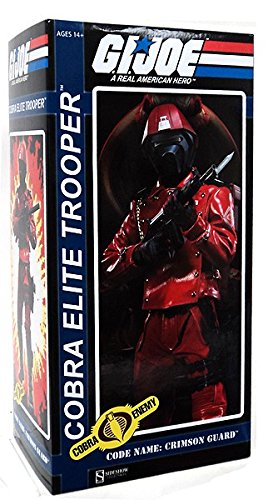 GI Joe Sideshow Collectibles 12 Inch Deluxe Action Figure Cobra Elite Trooper Code name Crimson Guard