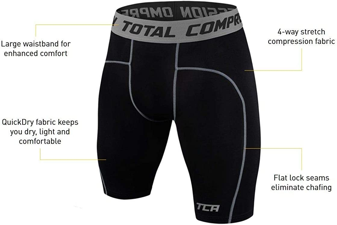 TCA Boy's Pro Performance Compression Base Layer Thermal Under Shorts : Clothing