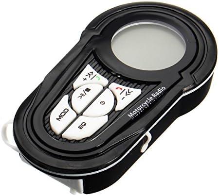 Fydun Moto BT Reproductor de MP3 Sistema de altavoces de audio est/éreo a prueba de agua Portador de tarjeta USB TF