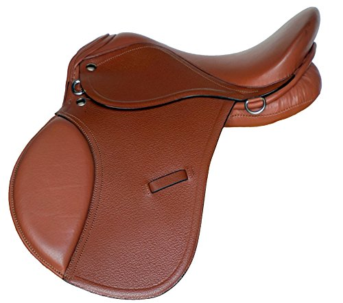 Equitem 15″ All Purpose AP Leather English Saddle (Tan)