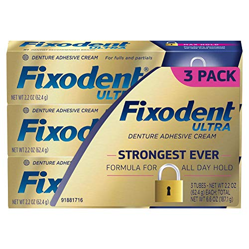 (Fixodent Ultra Max Hold Dental Adhesive (2.2 oz. 3)