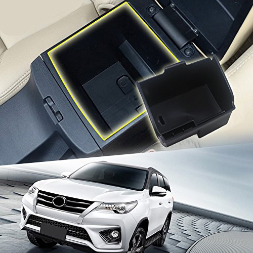 HIGH FLYING Central Console Armrest Storage Glove Box Organizer For Toyota Fortuner 2016 2017