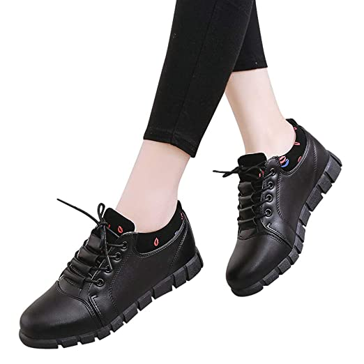 6274d568e37d58 Amazon.com: Lurryly❤Women's Fashion Winter Running Sport Shoes Lace Up Soft Casual  Shoes: Clothing