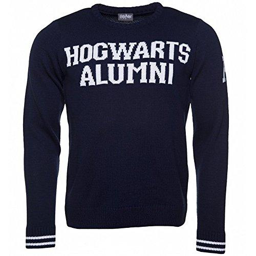 6da213c08c0 Harry Potter Unisex Hogwarts Alumni Knitted Jumper (L) (Navy)