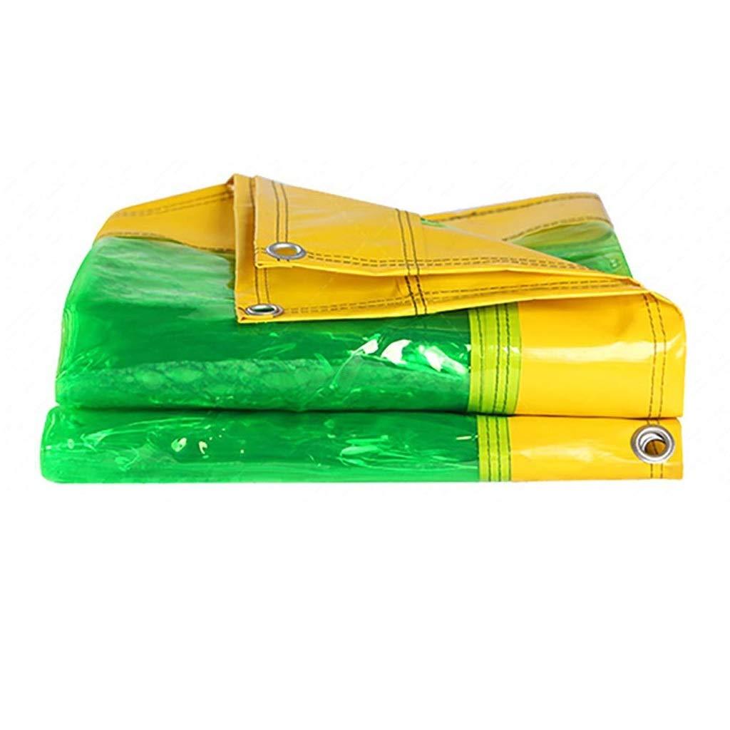 防水シートヘビーデューティ透明100%全天候防水日焼け止めテントトレーラーカバー  Jtogo.jp多目的PVC、500g / M2 (サイズ さいず : 5*5m) B07RW9M94P  5*5m