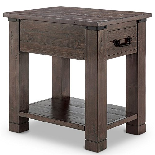 Magnussen Pine Hill Rectangular End Table in Rustic Pine