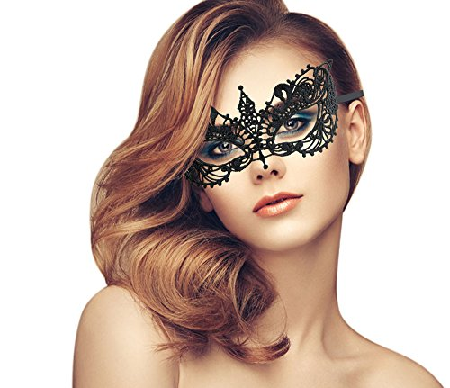 duoduodesign Exquisite High-end Lace Masquerade Mask (Black/Venetian/Soft Version) -