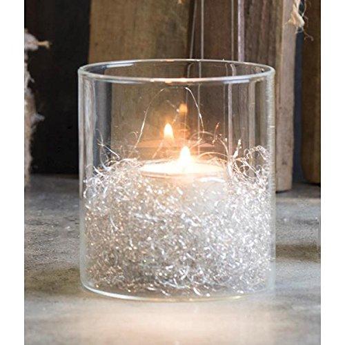 Sandra Rich Teelichthalter H 10cm Windlicht SHINE quadratisch Glas 8x8cm