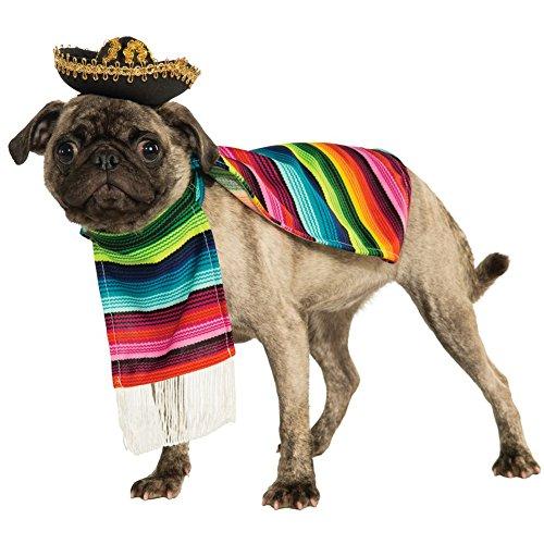Mexican Sarape Pet Costume - X-Large ()