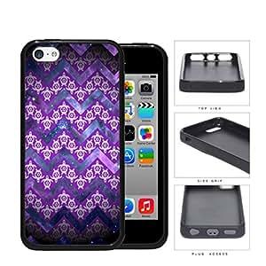 Mini Turtles In Chevron Pattern Purple Rubber Silicone TPU Cell Phone Case Apple iPhone 5c