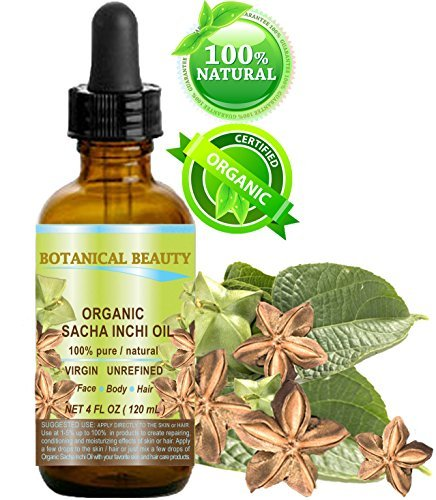 SACHA INCHI OIL ORGANIC. 100% Pure / Natural / Undiluted/ Virgin / Unrefined. 4 Fl.oz.- 120 ml. For Skin, Hair, Lip and Nail Care. Review