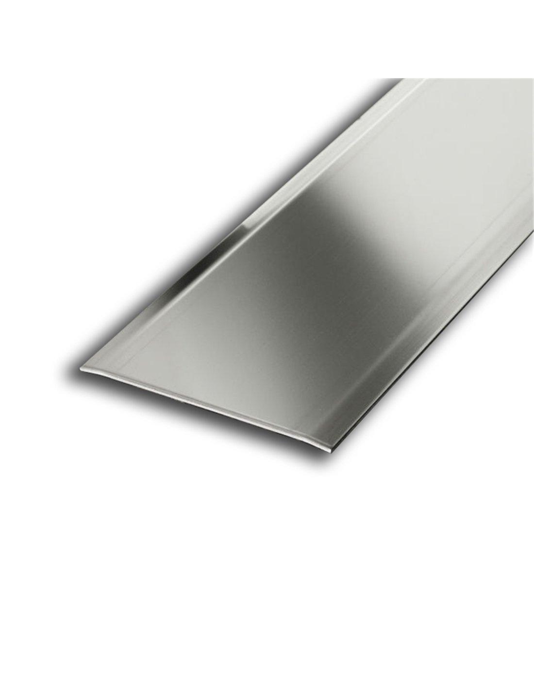Jardin202 40mm anch. 3mm alt. 0, 83m larg. Adhesivo - Transicion Aluminio Dos Alas - 40mm