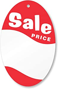 """SmartSign""""Pack of 1000 Oval Sale Price Tags"""" 
