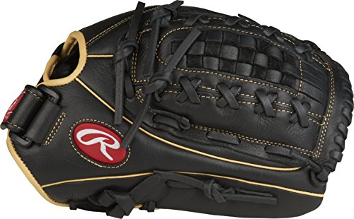 "Rawlings Shut Out Regular Double-Laced Basket-Web 12-1/2"" Softball Gloves"